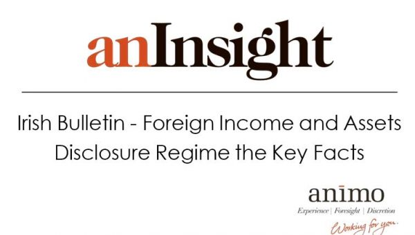 Irish Bulletin – Foreign Income and Assets Disclosure Regime: the Key Facts